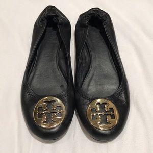 Tory Burch Black Ballet Flats Size 8- Barely Worn